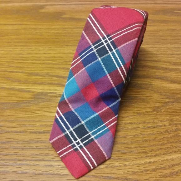 Marc Jacobs Other - Plaid Tartan Checker Tie Skinny Slim Multicolor